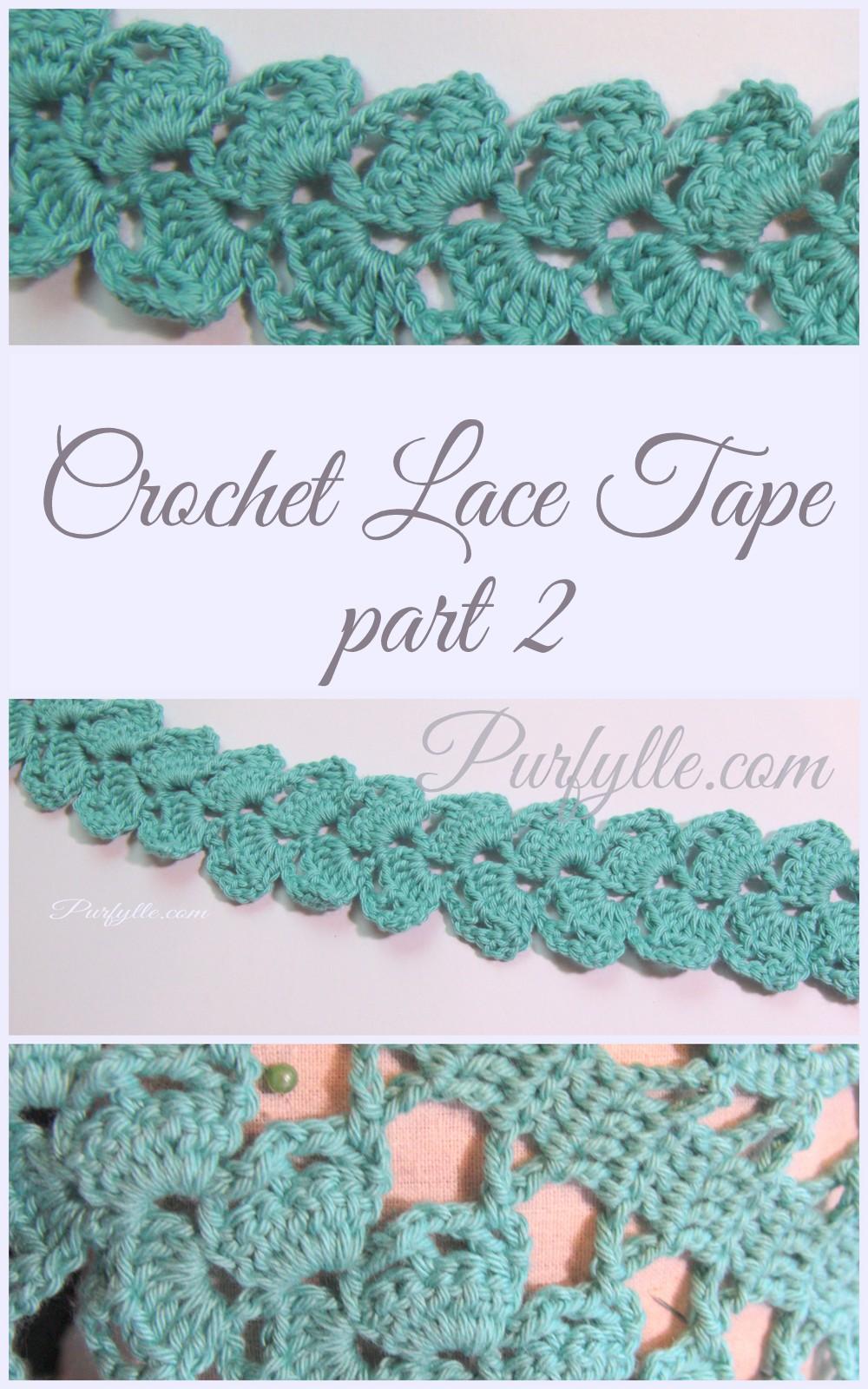 Purfylle crochet lace tape part 2 simple crochet lace tape bankloansurffo Image collections