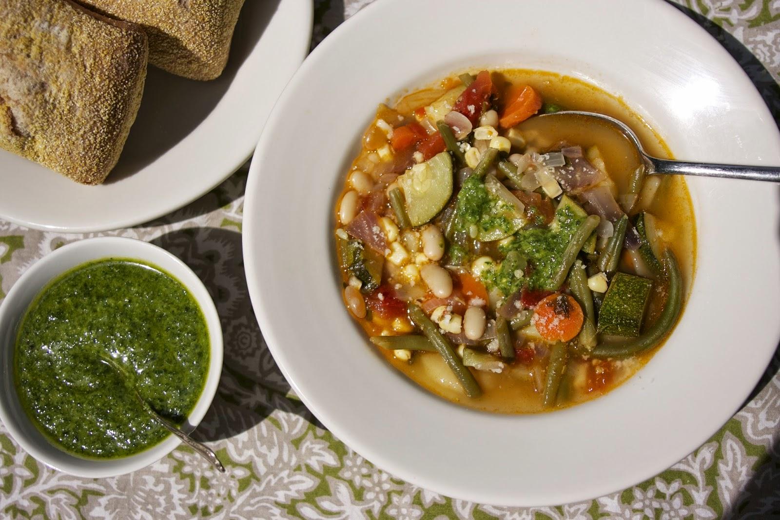 Summer Vegetable Soup: Provencal Vegetable Soup: simplelivingeating.com