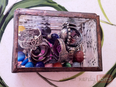 Finds & Treasures: Glass Ring Box via www.whatmandyloves.com