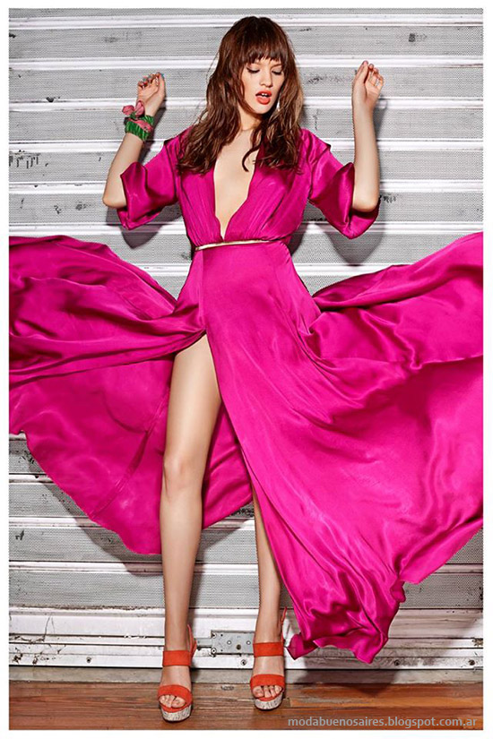 Moda verano 2015, vestidos de fiesta Frany And Zoey verano 2015.