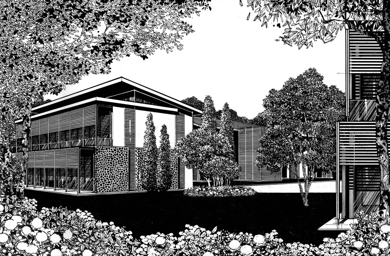 02 Paul Hill Pen And Ink Architectural Drawings