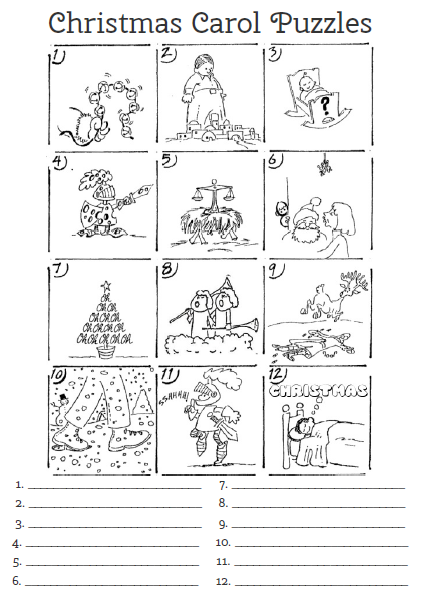 Fulbright Hugs: Christmas Carol Puzzle (neat bit of history)