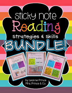 http://www.teacherspayteachers.com/Product/Sticky-Note-Reading-BUNDLE-Strategies-pack-AND-Skills-pack-728001