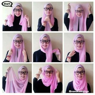 Tutorial Hijab Pashmina Sifon untuk yang Berkacamata