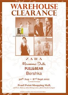 ZARA Warehouse Clearance Sale Massimo Dutti Pull&Bear Bershka 2012