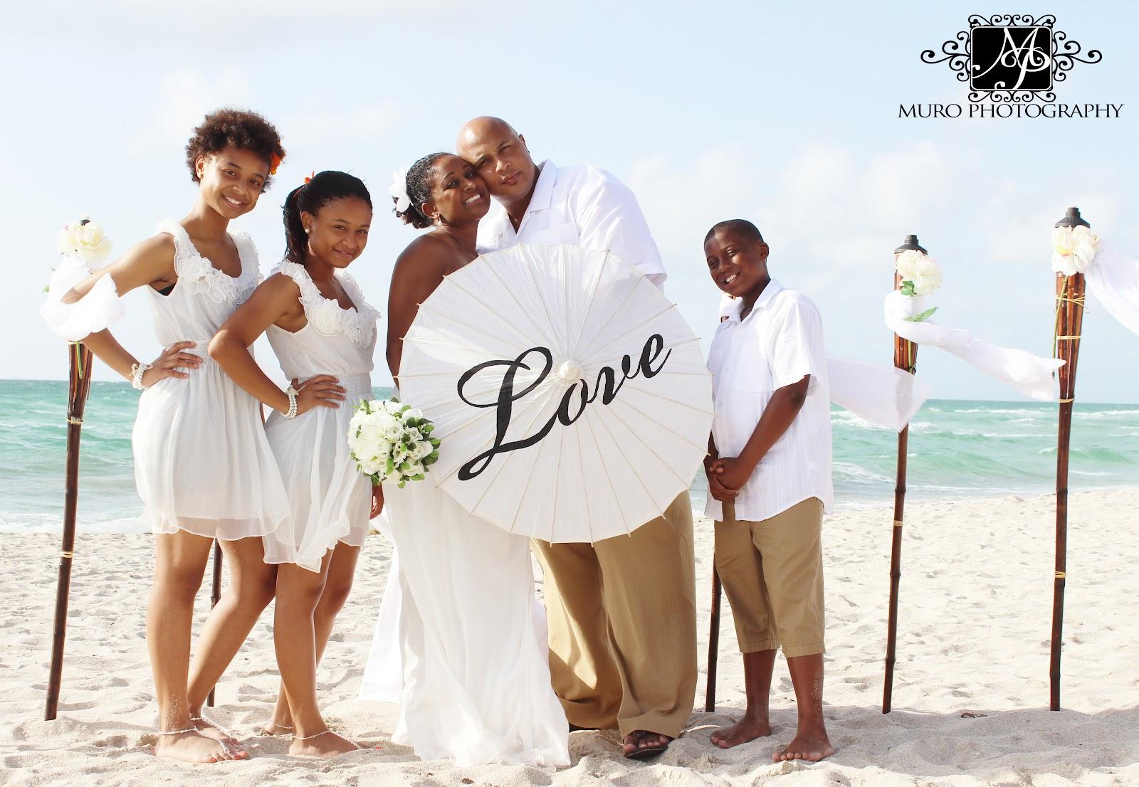 Affordable Beach Weddings 305 793 4387 Miami Beach Vow Renewal