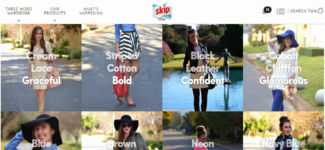 Skip Three Word Wardrobe