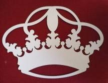 Coroa em MDF branca