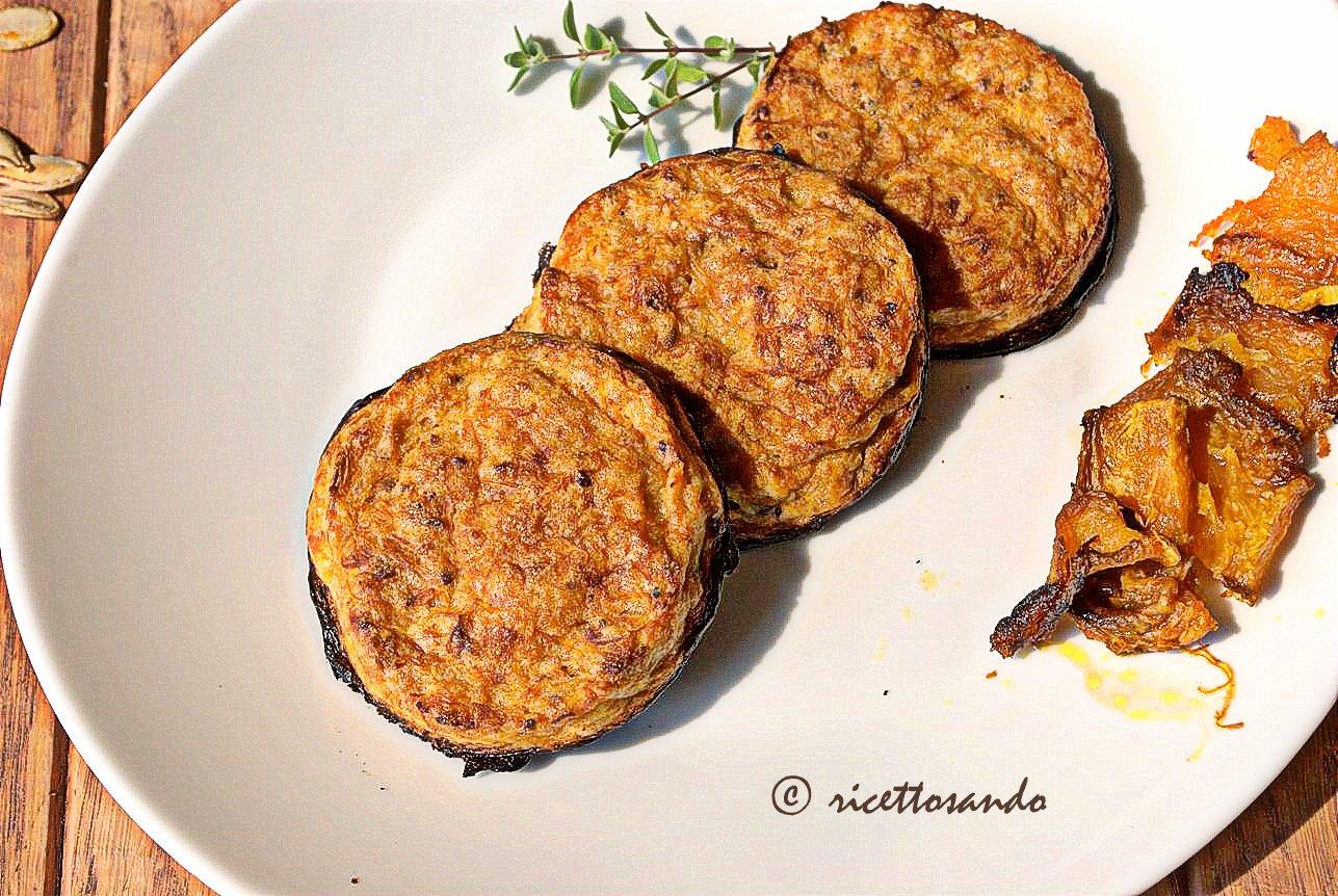 Minicake salati di zucca e bruscolini o semi di zucca ricetta verdura