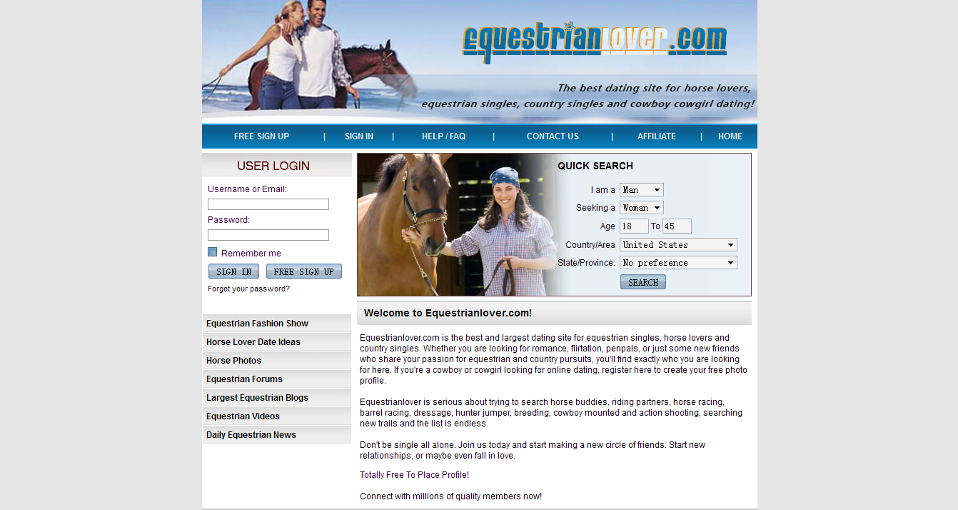 Equine lovers dating site