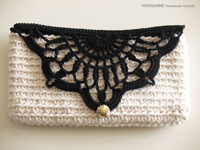 Clutch Crochet Pattern : Howsanne Handmade Crochet : Crochet Clutch Cotton Series Design