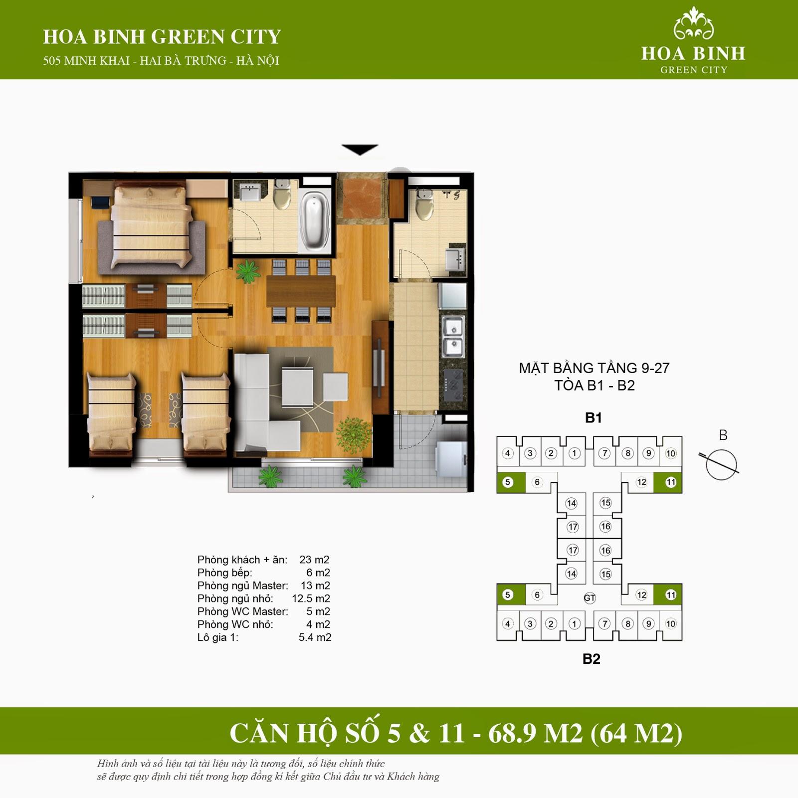 Hòa Bình Green City B 68,9m2