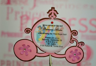 disney princess carriage invitations