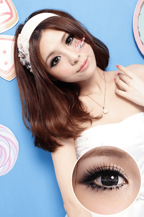 G&G Flower I Green Circle Lenses (Colored Contacts)
