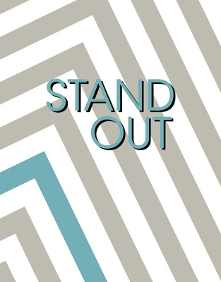 Stand Out Poster with Chevron Stripes