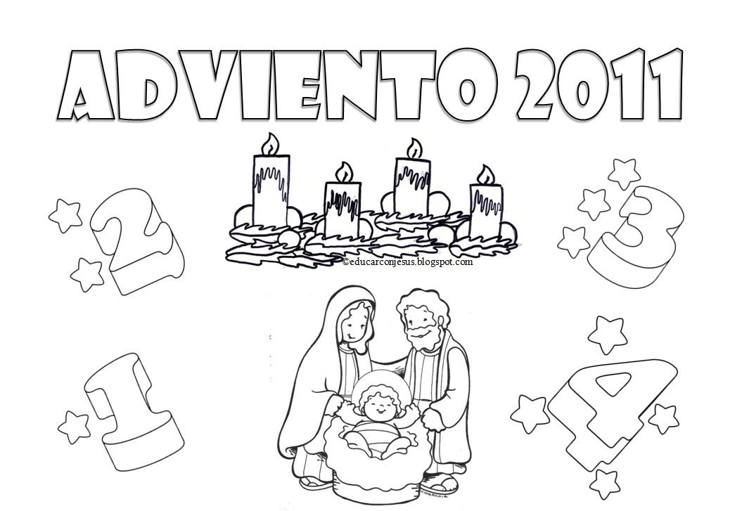 Educar con Jesús: Calendarios de Adviento para colorear 2011 Ciclo B