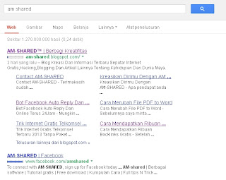 AM-SHARED Dapat Site Link Dari Google