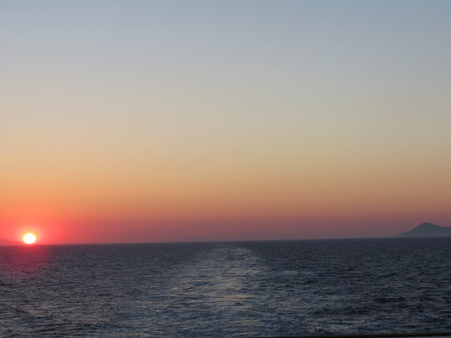 Sunset greece cruise