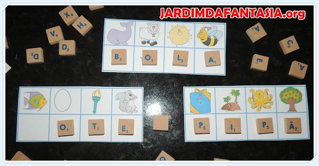 Atividade Material Concreto Letra Inicial e Formação de Palavras