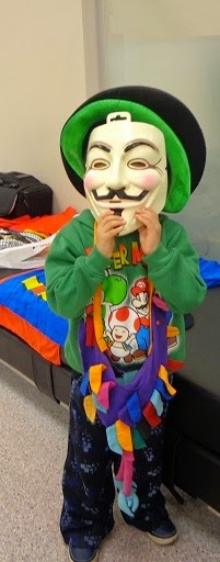 Child with Guy Fawkes Mask