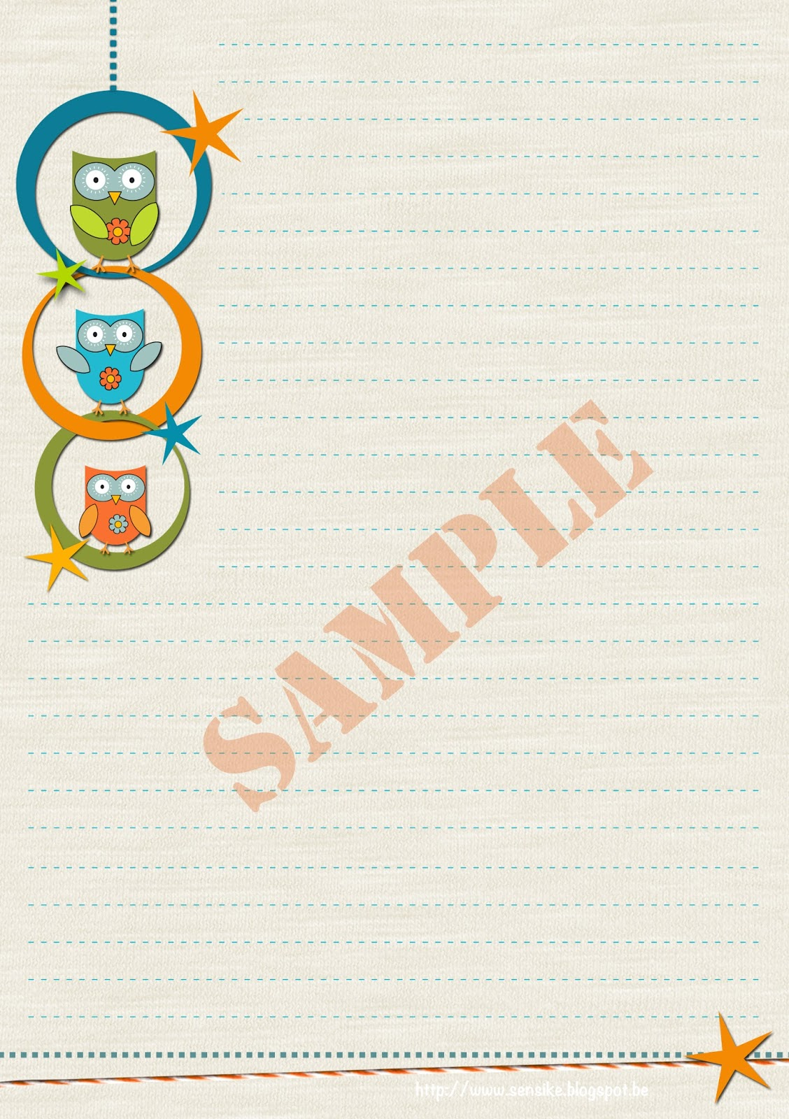 stationery owl pack