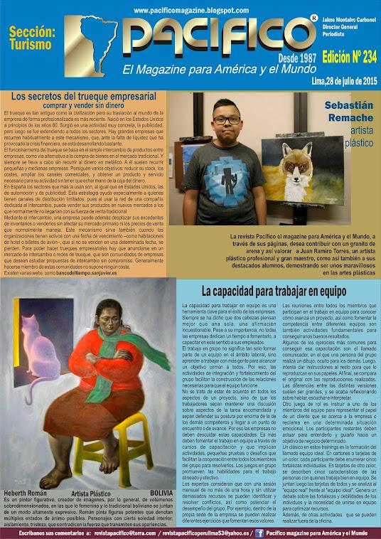 Revista Pacífico Nº 234 Turismo
