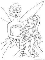 Gambar Barbie Fairytopia Untuk Diwarnai