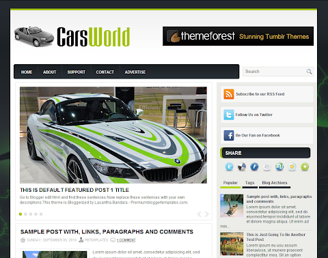 CarsWorld Blogger Theme