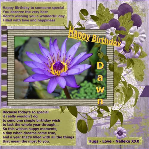 March 1 - 2016 Happy Birthday Dawn