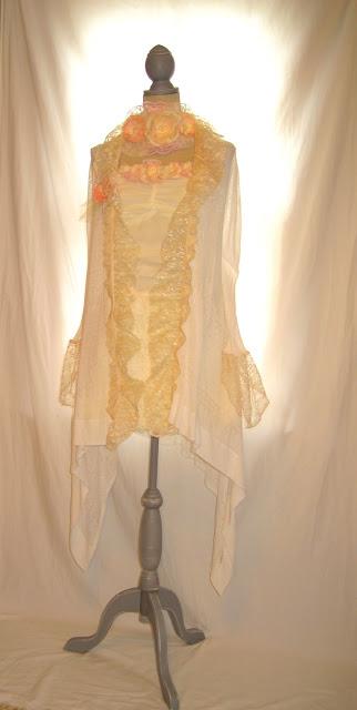 Spring Summer White Vintage Lace Tunic Duster, Women's Wedding Jacket