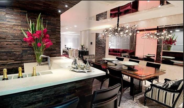 Sala De Jantar De Luxo ~  nada como um lindo lustre para deixar a sala de jantar um luxo