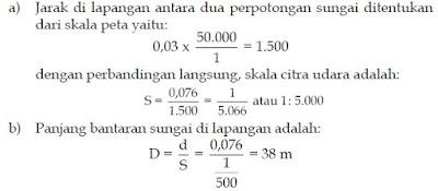 Perhitungan Cara Penentuan Skala Citra Udara