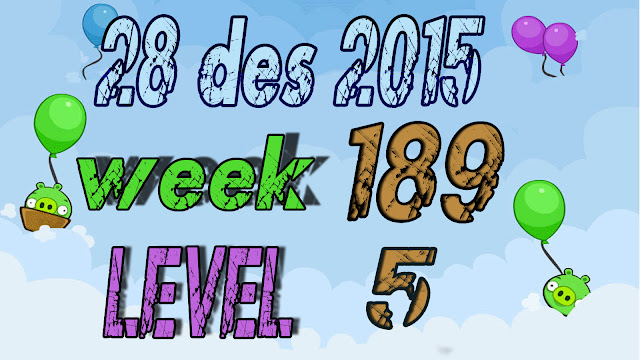 Angry Birds Friends Tournament level 5 Week 189