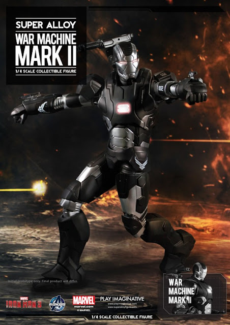 Play Imaginative 1/4 Scale Super Alloy Iron Man 3 War Machine Mark II Figure