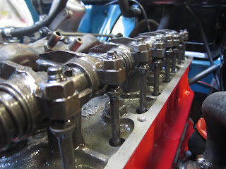 Volvo B20B rocker shaft and push rods