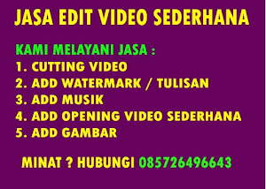 Jasa Edit Video Sederhana