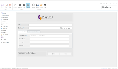 Design of SharePoint form for PC
