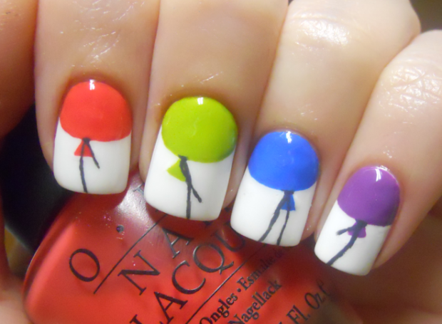 holy manicures colorful balloon
