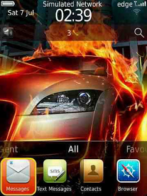 Theme Whell On Fire for BlackBerry