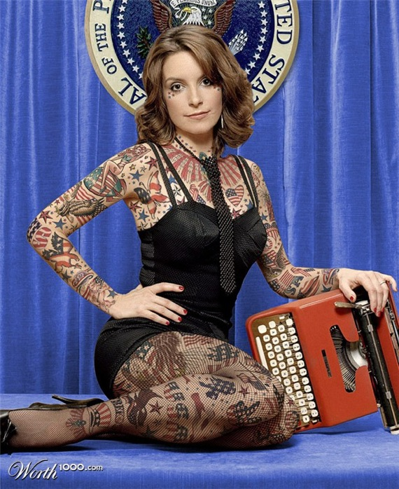 Tina Fey Tattoojpg