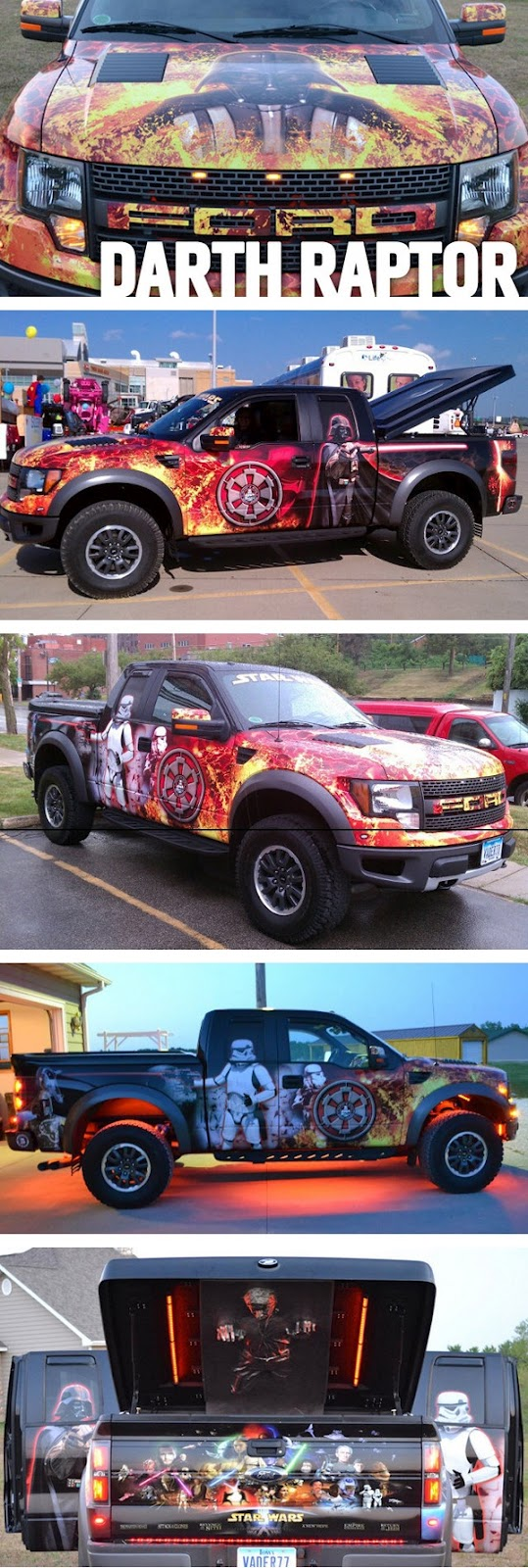 Super fan de Star Wars personaliza seu Ford  Raptor em Darth Raptor