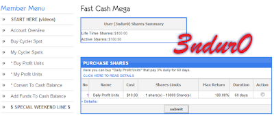 Cara Compound di Fast Cash Mega (FCM)