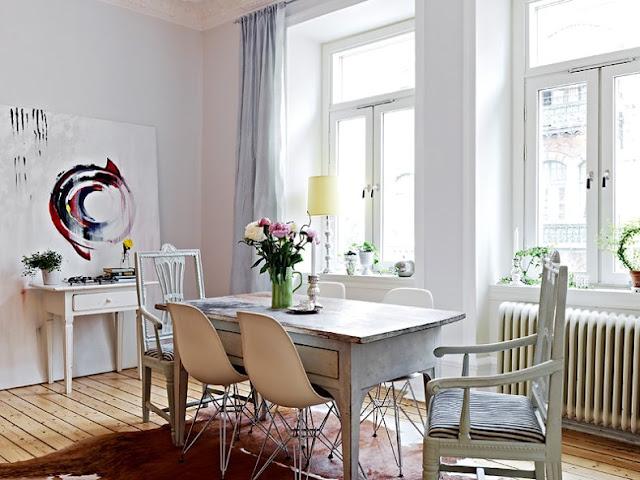 Decoraxpoco tendencia sillas diferentes para el comedor for Comedor redondo vintage