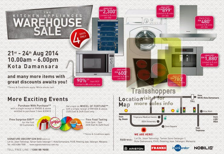 Imported Kitchen Appliances Warehouse Sale 2014 offers