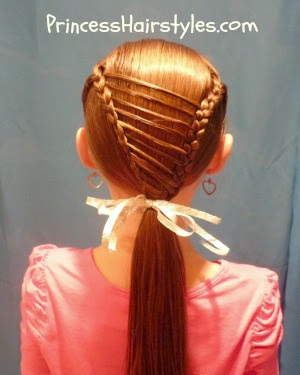 unique braided ponytail