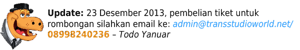 Beli Tiket Trans Studio Bandung Online