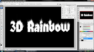 create fire Text effect in Photoshop 4
