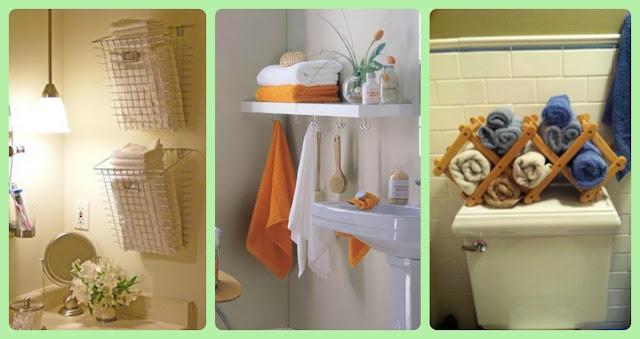 Organizar o banheiro | Toalhas