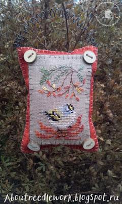 Вышивка крестиком птички
