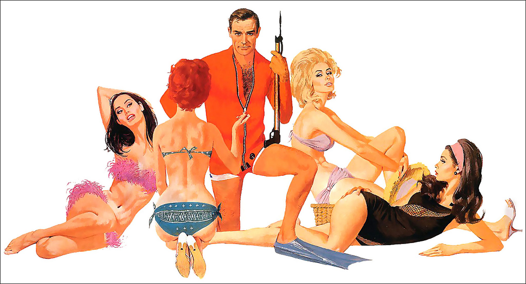 Robert McGinnis. Pin-Up Girls & Pulp Covers. Doctor Ojiplático. James Bond